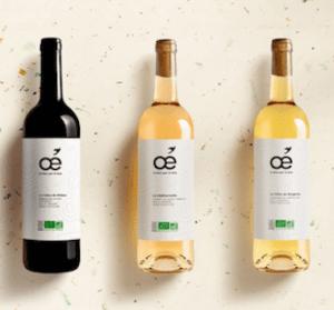 Selection de 3 vins bio de la marque Oé à offrir pour Noël