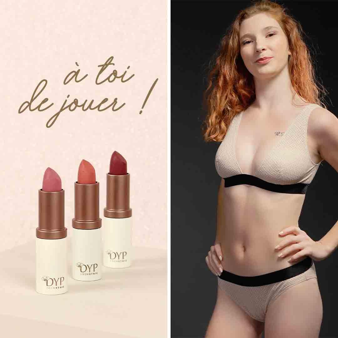 Coucours DYP cosmethic maquillage bio et Sans Prétention petite culotte en fibres recyclées française